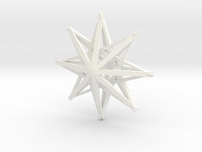 star3 ornament by Jorge Avila in White Processed Versatile Plastic