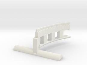 Bradford & Foster Brook Curved Rail in White Natural Versatile Plastic