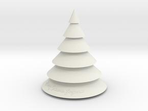 Christmas Tree in White Natural Versatile Plastic