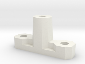 Axle to Grid Connector in White Natural Versatile Plastic