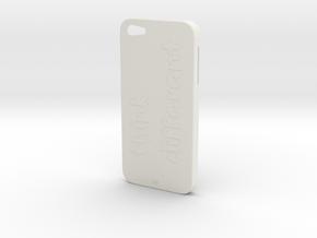 iPhone 5 Think Case in White Natural Versatile Plastic