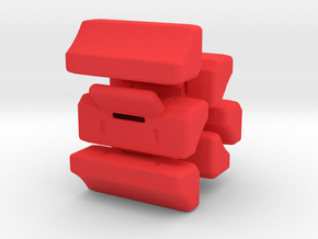Switch Box - separate switches (6) in Red Processed Versatile Plastic
