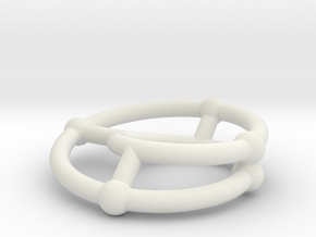 moebius ring | scaled line 24x4 in White Strong & Flexible