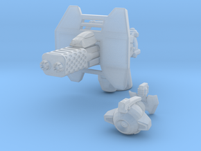 advanced flame cannon 001a carried with firecontro in Smooth Fine Detail Plastic