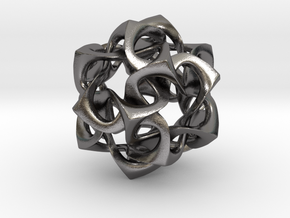 Icosahedron I, pendant in Polished Nickel Steel
