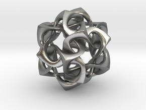 Icosahedron I, pendant in Natural Silver