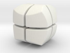 Mini Hexaball 2x2 in White Natural Versatile Plastic