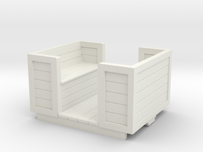 O9 open workman's coach in White Natural Versatile Plastic