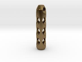 Tritium Lantern 2C (Silver/Brass/Plastic) in Natural Bronze