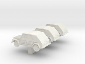 N Scale  VW181 Kurierwagen in White Natural Versatile Plastic