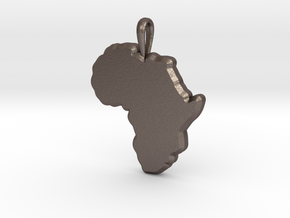 Mapa Mudo de Africa in Polished Bronzed Silver Steel