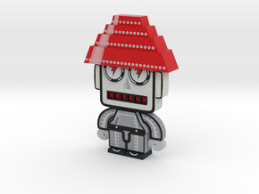 DevoBot Series 1 B/W with Red Energy Dome : Mark M in Full Color Sandstone