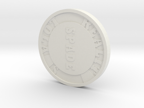 Poker chip in White Natural Versatile Plastic