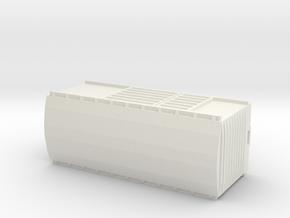 KP Wagon, New Zealand, (NZ120 / TT, 1:120) in White Natural Versatile Plastic