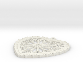 rose window heart in White Natural Versatile Plastic