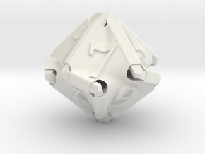 Stretcher d10 in White Natural Versatile Plastic