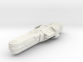 Bothan Battleship small model in White Natural Versatile Plastic