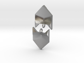 Foxy Geometric Earrings in Natural Silver