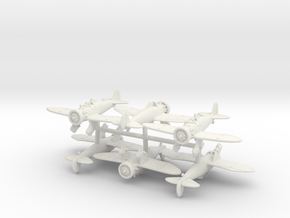 Boeing P-26A Peashooter (x6) in White Natural Versatile Plastic: 1:200