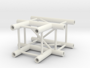 Square truss T piece 1:10 in White Strong & Flexible