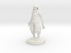 Ninja statue in White Natural Versatile Plastic