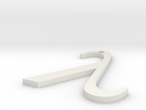 Lambda Pendant in White Natural Versatile Plastic