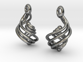 Passionate Fire Earrings in Polished Silver