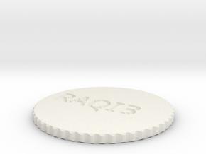 by kelecrea, engraved: RAQIB in White Natural Versatile Plastic