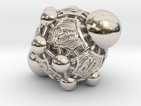 Nucleus D00 in Rhodium Plated Brass