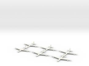1/700 Scale Convair B-36 Bomber in White Natural Versatile Plastic