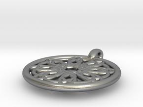 Megaclite pendant in Natural Silver