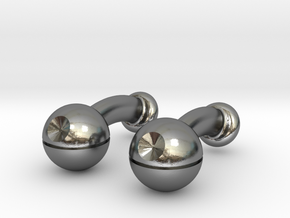 Death Star Cufflinks in Polished Silver