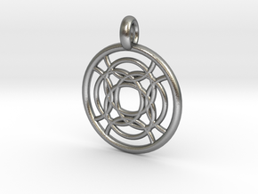 Taygete pendant in Natural Silver