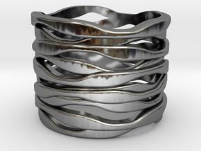 BASHIBA RAW WAVES  (16.5 mm) in Premium Silver