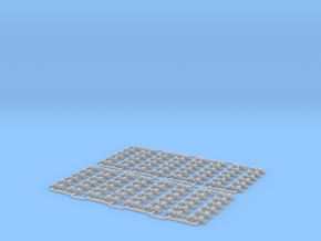 Check Rail Chairs 1.50mm Eight Pack in Smooth Fine Detail Plastic