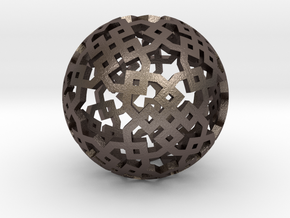 Cubical two-point pattern in Polished Bronzed Silver Steel