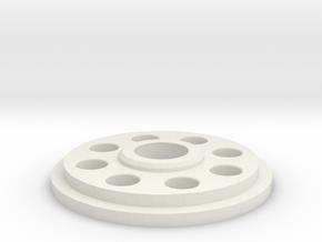 Pommel Insert   Charge Port Center Hole in White Natural Versatile Plastic