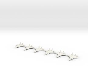 1/700 Scale F-35B Lightning  in White Natural Versatile Plastic