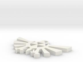 Pendant - Hylian Crest (No Base) in White Natural Versatile Plastic