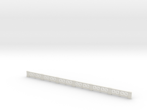 Small-star railing HO single in White Natural Versatile Plastic