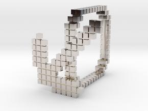 Minecraft pickaxe ring in Platinum