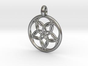 Hegemone pendant in Natural Silver