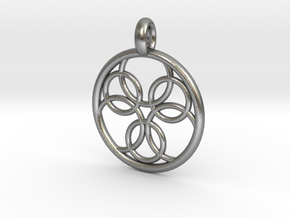 Pasithee pendant in Natural Silver
