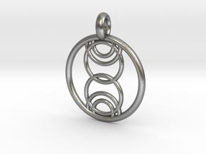 Kore pendant in Natural Silver
