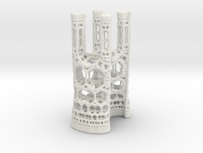 Fractal Cathedral in White Natural Versatile Plastic