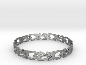 Silver Filigree Bracelet - Medium in Raw Silver