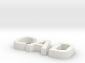 cad in White Natural Versatile Plastic