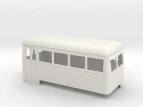 On16.5 Railbus double end in White Natural Versatile Plastic