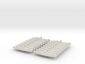 1/1200 LCI(L) (Square Bridge-Side Ramps) (x18) in White Strong & Flexible