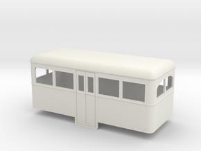 On16.5 Railbus Centre entrance trailer  in White Strong & Flexible